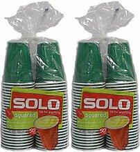 Solo Partybecher, quadratisch, 270 ml 100 Cups