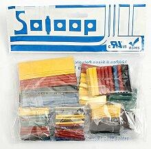 SOLOOP 328tlg Schrumpfschlauch Set Sortiment 2:1 Schrumpfschläuche Heat Shrink