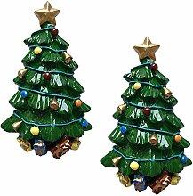 SOLUSTRE 2 Stück Weihnachtsmagnete Harz