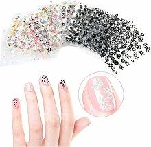 somarke 3D Nail Art Sticker Selbstklebend Nail tips-50anderen Stil Blatt Fashion Maniküre Nagel Aufkleber