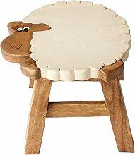 Something Different Holzhocker im Schafdesign, für Kinder, aus Ethisch korrekter Herstellung