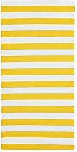 SOMMAR 2019 Teppich, flachgewebt, Gelb/Weiß, für