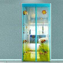 Sommer,anti-mosquito vorhang/encryption printing curtain/anti-mosquito,weiche garn tür/bildschirm/mute vorhang/magnetische weiche salmonellen-A 120x210cm(47x83inch)