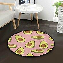 Sommer Avocado Obst Runde Teppich für Wohnzimmer