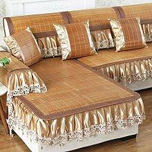 Sommer Bambus Anti-Schlupf Sofa Cover Schutzhülle