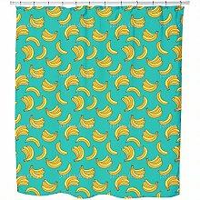 Sommer Bananen Wasserdicht Duschvorhang,