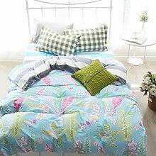 Sommer Blau Bettwäsche Kinder Bettwäsche Teen Betten Betten Wohnheim Geschenkidee, baumwolle, blau, Twin