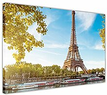 """Sommer Fotos Paris Eiffelturm Leinwand Kunstdruck Wand Bilderrahmen Foto Dekoration Haus Kunst Moderne Drucke zeitgenössisch 02- A3 - 16"""" X 12"""" (40CM X 30CM)"""