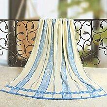 Sommer Handtuch/ Baumwolldecke/Double einzelne Decke/ Kinder Handtuch Decke/ Klimaanlage/ Decke/ Decke/Decken/ cool im Sommer-B 200x230cm(79x91inch)
