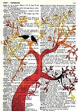 Sommer Liebe Baum Retro Englisch Französisch