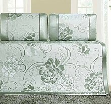 Sommer Matte Schlafsack atmungsaktiv zusammenklappbar Ice Silk Matte für Schlafzimmer, grün, 195* 120cm