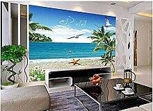 Sommer Meer Strand Baum Landschaft Tapete
