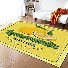 Sommer Obst Pflanze Zitrone Teppiche Für