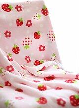 Sommer-Rosa-Erdbeere Vlies-Baby-Kleinkind-Multifunktionsdecke 150x100cm