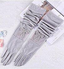 Sommer Sonne Handschuhe Lei Eis Seide Frühjahr Anti-UV Lange Fahren Sonnenschutz Handschuhe (Sechs Farben erhältlich) ( Farbe : 2 )