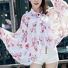 Sommer Sonnencremes Gedruckt Strand Handtuch Schal Schal Vielzahl von Frauen Schal Reiten ein Auto Sonnenschutz Kleidung , red , 160 cm