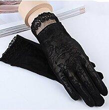 Sommer-Sonnenschutz-Handschuhe Dünne dünne Handschuhe Anti-Rutsch-Anti-Ultraviolett-Schatten bezieht sich auf Spitzenhandschuhe ( Farbe : 1 )