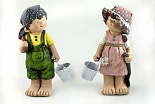 Sommerkinder Gartendeko Kinder 22 x 14 x 37 wetterfeste Figuren