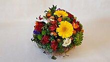 Sommerliches Blumengesteck - Sonnenschein -