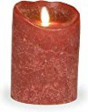 sompex Flame LED Kerze 8x12,5 Bordeaux|Echtwachs