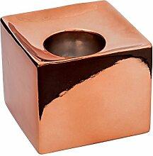 Sompex - KRISMASI, Teelichthalter eckig- Keramik,