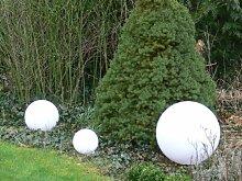 Sonderangebot: Gartenleuchte Gartenlampe Marlon 3er Set (30+40+50cm) Außenleuchte Kugellampe mit Erdspieß, E27, Kugelleuchte Dekoration