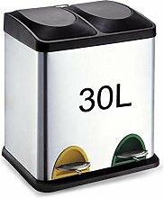SONGDP Mülleimer, Doppel-Recyclingbehälter ,