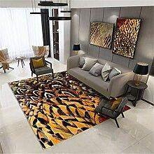 SONGHJ 3D Feder Druck Teppich, Wohnzimmer