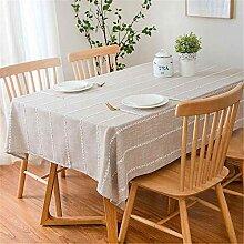 SONGHJ Baumwolle Leinen tischdecke für küche