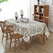 SONGHJ Baumwolle und Leinen Tischdecke Küchen