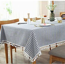 SONGHJ Einfache Tischdecke Einfache gestreifte