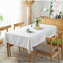 SONGHJ Einfache Tischdecken Weiße Tischdecke mit