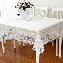 SONGHJ Proud Rose White Lace Tischdecke