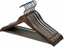 SONGMICS 10er Set Kleiderbügel aus Holz, mit