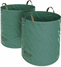 SONGMICS 2er Set Gartensack, 500 L