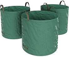 SONGMICS 3er Set Gartensack, 300 L