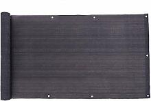 SONGMICS Balkonbespannung Balkonverkleidung Sichtschutz ohne Schrauben aus HDPE 75 x 600 cm GBC75GY