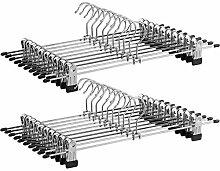 SONGMICS CRI006-20 Metall Kleider-/Hosenbügel,