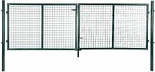 Songmics Doppeltor Gartentür Gartentor Inkl. Schloss und 3 Schlüssel 100 x 320 cm GGD300G