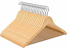 SONGMICS Kleiderbügel aus Ahornholz, 100 Stück,