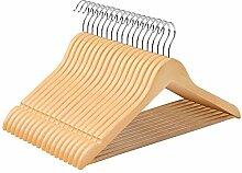 SONGMICS Kleiderbügel aus Ahornholz, 50 Stück,