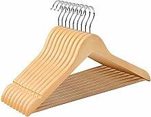SONGMICS Kleiderbügel aus Holz, 10er Set,