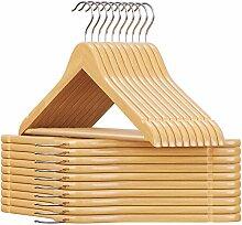 SONGMICS Kleiderbügel aus Holz, für Anzüge,