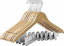 SONGMICS Kleiderbügel Holz Hosenbügel mit