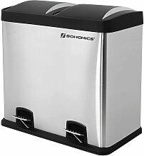 Songmics - Mülleimer Abfalleimer 48L für Küche