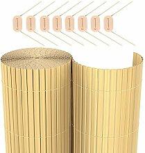 SONGMICS PVC Sichtschutzmatte (100 x 300 cm) Sichtschutz für Garten Balkon und Terrasse GPF103M