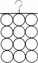Songmics Schalbügel mit rutschfeste Oberfläche 42 x 25 cm Ringe 8,5 cm Schwarz, Metall CRI22B