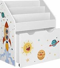 SONGMICS Spielzeugregal, Bücherregal für Kinder,