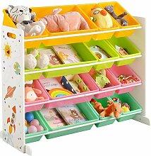 Songmics - Spielzeugregal, Spielzeug-Organizer,