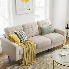 Songmics - VASAGLE Sofa, Couch fürs Wohnzimmer,